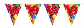 Vlaggenlijn, Slinger Balloons 19 Jaar /10Mtr
