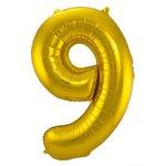 Cijfer 9 Goud 86cm