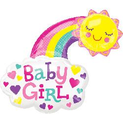 girl happy sun 76x76cmcm Art.nr: 34054