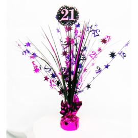 Tafelstuk Sparkling Pink 21 jaar
