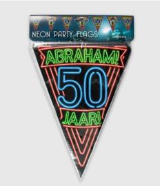 Vlaggenlijn, Slinger Neon Abraham 50 Jaar /6 Mtr