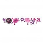 Confetti 21 jaar Sparkling Pink