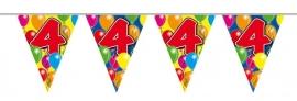 Vlaggenlijn, Slinger Balloons 4 Jaar /10Mtr