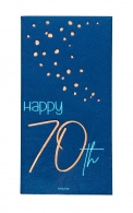 Servetten Happy 70th elegant true blue