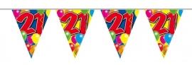 Vlaggenlijn, Slinger Balloons 21 Jaar /10Mtr