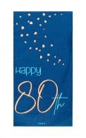 Servetten Happy 80th elegant true blue