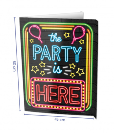 Raambord The Party is here (Window sign)