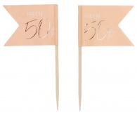 prikkers 50 jaar elegant blush