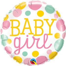 """Baby Girl Dots - Q18""""/45cm (1 Stuk) Artikelnummer: 55388"""