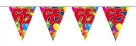 Vlaggenlijn, Slinger Balloons 65 Jaar /10Mtr