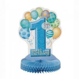 Tafeldeco 1st Blue Balloons