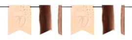 Vlaggenlijn Elegant blush 70 jaar