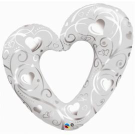 Hearts & Filigree Pearl White -106cm Artikelnummer: 16304