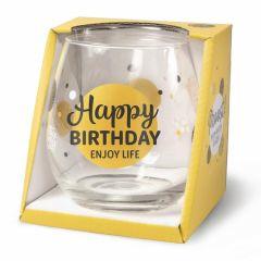 Wijn/waterglas - Happy Birthday