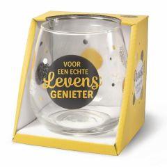 Wijn/waterglas - Levensgenieter