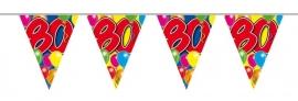Vlaggenlijn, Slinger Balloons 80 Jaar /10Mtr