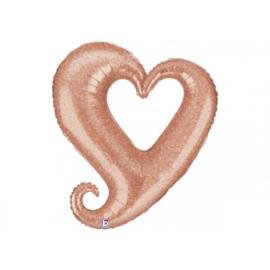 Chain Heart - Rose Gold - 94cm  Artikelnummer: 35641