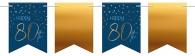 Vlaggenlijn Elegant True Blue 80 jaar