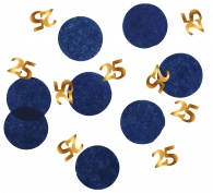 Confetti Elegant True Blue 25 jaar