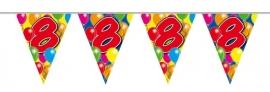 Vlaggenlijn, Slinger Balloons 8 Jaar /10Mtr