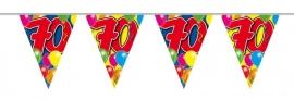 Vlaggenlijn, Slinger Balloons 70 Jaar /10Mtr