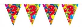 Vlaggenlijn, Slinger Balloons 3 Jaar /10Mtr