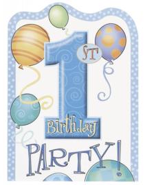 Uitnodiging 1st Blue Balloons