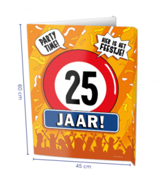 Raambord 25 jaar (Window sign)