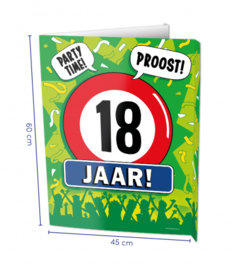 Raambord 18 jaar (Window sign)