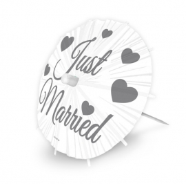 Party Prikkers Parasol XL Just Married / 8st