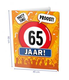 Raambord 65 jaar (Window sign)