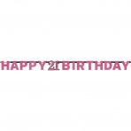 Letterslinger Sparkling Pink 21 jaar