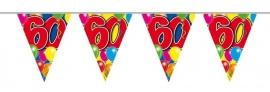 Vlaggenlijn, slinger Balloons 60 Jaar /10Mtr