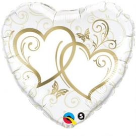 HRT Entwined Hearts Gold -45cm  Artikelnummer: 15668
