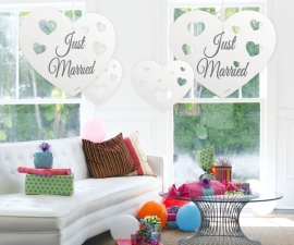 Hangdecoratie Harten met Stans /5st