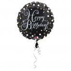 folieballon happy birthday 43 cm (wordt leeg geleverd)