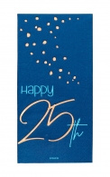 Servetten Happy 25th elegant true blue