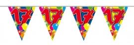 Vlaggenlijn, Slinger Balloons 17 Jaar /10Mtr