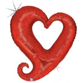 Chain Heart - Red - 94cm Artikelnummer: 85125