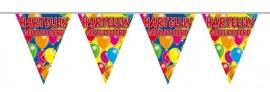 Vlaggenlijn, Slinger Balloons Hartelijk Gefeliciteerd /10Mtr