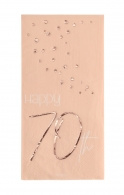 Servetten Happy 70th elegant blush