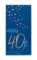 Servetten Happy 40th elegant true blue