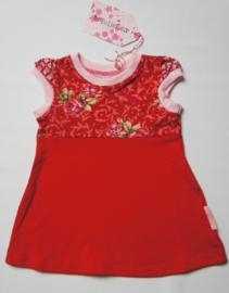 babyjurkje roosjes rood maat 56