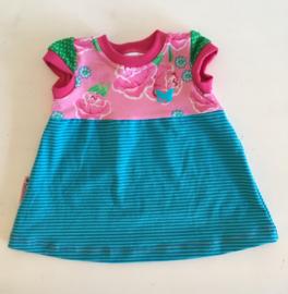 Babyjurkje roze/turquoise maat 68