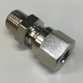 Slang koppeling recht 1/8M x 6mm