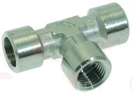 Connector T 3x 1/4F