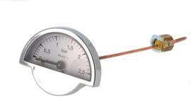 Manometer boilerdruk half rond (ECM/Rocket)
