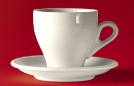 "Kop en schotel ""JollyCaffè"" Lungo/Cappuccino wit"