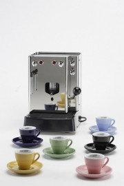 "Clubhouse espresso kop/schotel gekleurd ""Jolly Caffè"" (6 stuks)"
