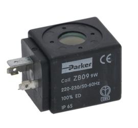 Spoel magneetklep Parker ZB09 9 watt